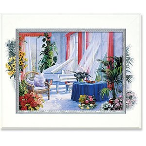 絵画 ピーターモッツ カーサフィレンツェ 庭園アート インテリア art1