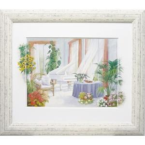 ピーターモッツ/絵画/庭園アート/ホワイトピアノ(絵画・インテリア)|art1