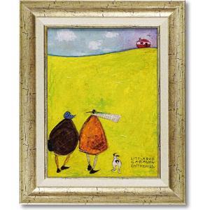 サムトフト現代アート・ 丘の上の小さなキャラバン/絵画・インテリア|art1