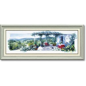 ピーターモッツ/絵画/庭園アート/パノラマテラス2(絵画・インテリア)|art1