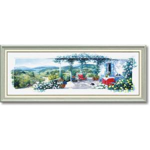 絵画 ピーターモッツ パノラマテラス1 庭園アート インテリア art1