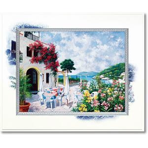 絵画 ピーターモッツ オーシャンテラス 庭園アート インテリア art1
