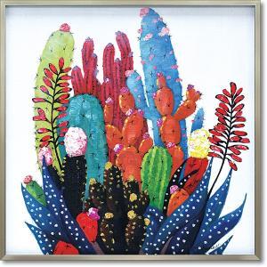 絵画 油絵 オイルペイントアート・カラフルカクタス 現代アート インテリア|art1
