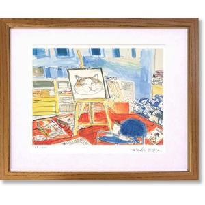 絵画 版画 猫 久下貴史・フェデリコの仕事 インテリア art1
