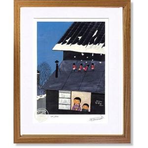 絵画 谷内六郎 (たにうちろくろう)・雨だれの春の序曲 版画 インテリア art1