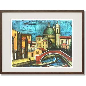 絵画 ビュッフェ オグニサンティ運河 シルクスクリーン刷 ( Bernard Buffet  ベルナール・ビュッフェ )|art1