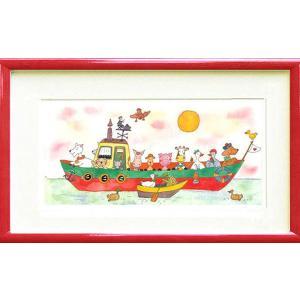 絵画 版画 クリーブ・スモールバージ小さな遊覧船 インテリア|art1