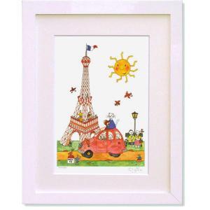 絵画 クリーブ・ネコのパリ紀行 版画 インテリア|art1