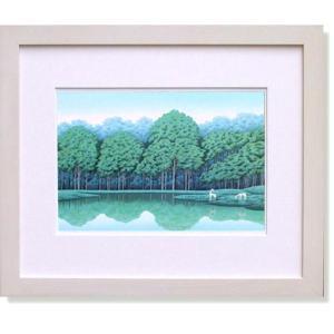 国武久巳・蒼い湖畔(絵画・インテリア)|art1