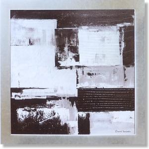 デビッドセダリア・ブラックホワイトの象形(絵画・抽象画・インテリア)|art1
