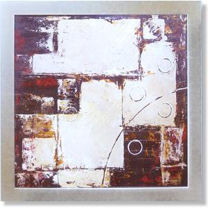 デビッドセダリア・ブラウンベージュの象形(絵画・抽象画・インテリア)|art1