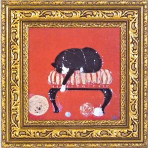 ドミンゲス/現代アート/子猫の毛糸(絵画・インテリア) art1