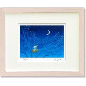 葉祥明・はちぞうの森の祈り(絵画・版画・インテリア) art1