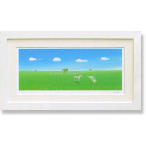 絵画 版画 葉祥明・はちそうのぼくに教えて インテリア art1