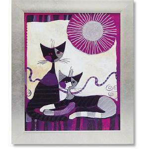 絵画 猫 インテリア ロジーナ/現代アート/ヴィータデュエ art1