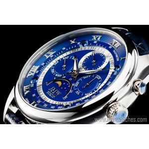 【JMW TOKYO】ブルー&シルバー上級「ムーンフェイズ 」本革ベルトローマ数字インデックス100m防水タキメーター腕時計【世界限定300本】|art1watches