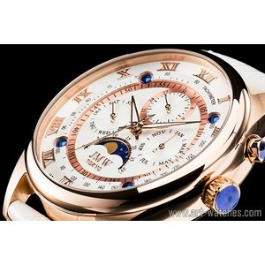 【JMW TOKYO】ホワイト&ゴールド上級「ムーンフェイズ 」本革ベルトローマ数字インデックス100m防水タキメーター腕時計【世界限定300本】|art1watches