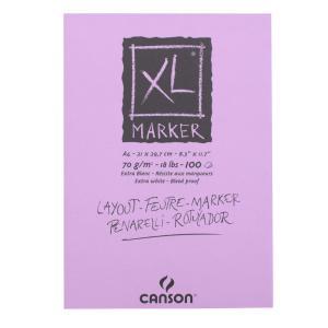 クロッキーブック キャンソンXL マーカーパッド A4(297×210mm) 297-236 70g/m2 100枚【maruman/マルマン】[DM便不可]|artandpaperm
