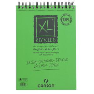 クロッキーブック キャンソンXL リサイクル A4(297×210mm) 777-128 160g/m2 50枚【maruman/マルマン】[DM便不可]|artandpaperm
