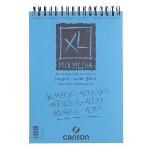 クロッキーブック キャンソンXL ミックスメディア A4(297×210mm) 807-215 300g/m2 30枚【maruman/マルマン】[DM便不可]|artandpaperm