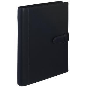名入れ・ラッピング無料! マルマン ジウリスファイルノート 革製表紙 B5 26穴 ブラック F25-05  (DM便不可) maruman artandpaperm