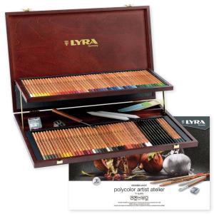 LYRA リラ ポリカラー ウッドボックス 78色アソートセット L2004200 (DM便不可) 送料無料|artandpaperm