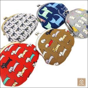 送料無料 ねこ柄 がま口財布 猫 ネコ コインケース 小銭入れ 小物入れ 京都 職人 ハンドメイド|artboxkyoto