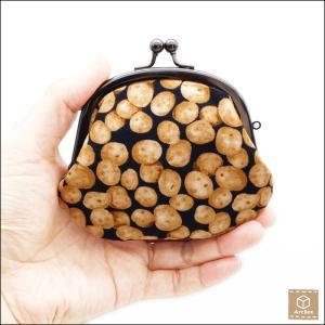 がま口財布 じゃがいも柄 コインケース 小銭入れ 小物入れ ハンドメイド|artboxkyoto