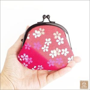 がま口財布 桜 春 コインケース 小銭入れ 小物入れ ハンドメイド|artboxkyoto