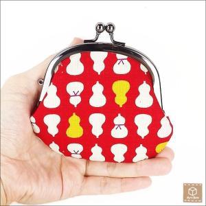 がま口財布 ひょうたん柄 コインケース 小銭入れ 小物入れ ハンドメイド|artboxkyoto