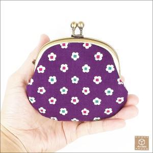 左利き用 がま口財布 花柄 コインケース 小銭入れ 小物入れ ハンドメイド artboxkyoto