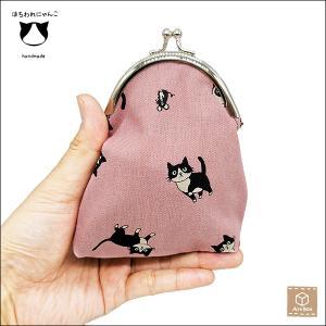 がま口 猫柄 ゴブラン調 ねこ ネコ 動物柄 小銭入れ 小物入れ 一点物 ハンドメイド|artboxkyoto