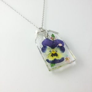 押し花のペンダント ネックレス チェーン40cm|artboxkyoto