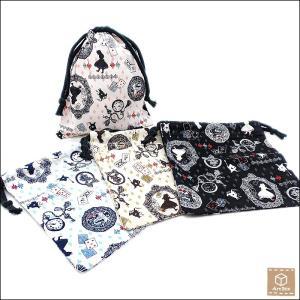 アリス 巾着袋 ポーチ 子供用 キッズ 給食袋 ハンドメイド 手作り|artboxkyoto