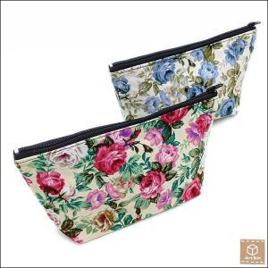 花柄 ポーチ トラベルポーチ 化粧ポーチ 小物入れ ハンドメイド 手作り|artboxkyoto