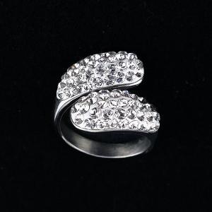 スワロフスキー ラセンリング 指輪 シルバー スワロフスキークリスタルPP11.PP13 レディース ハンドメイドアクセサリー|artboxkyoto
