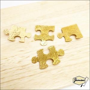 送料無料 真鍮ブローチ パズルのピース ブラスアクセサリー コサージュ レディース ハンドメイド 手作り|artboxkyoto