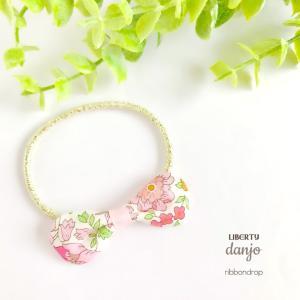 リボン ヘアゴム リバティ LIBERTY ヘアアクセサリー Danjo ダンジョー  タナローン 女の子 花柄|artboxkyoto