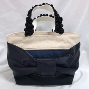 大きなリボン デニムミニハンドバッグ|artboxkyoto