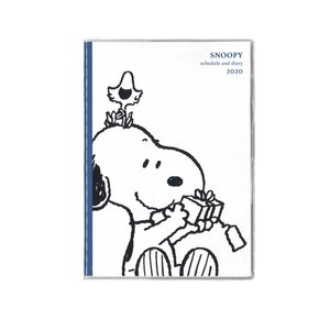 手帳 2020 スヌーピー スケジュール帳 家族手帳 B6 クツワ 12月始まり 日曜始まり マンスリー 大人 おしゃれ キャラクター 605SQの商品画像 ナビ