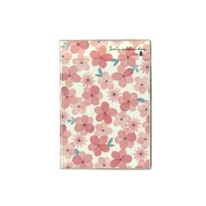 クツワ SH988A フラワー・ピンク 家族手帳B6薄型 2020年ダイアリー