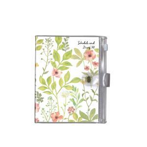 【メール便OK】クツワ 2020 家計簿付き手帳 A6 ポケット付 SH990A-1500ボタニカル・フラワーの商品画像|ナビ