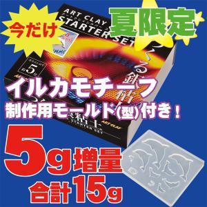 A-0188Z-DL アートクレイシルバースターターセット 銀粘土 5g増量 イルカモールド レシピ付 送料無料|artclaytsuhan