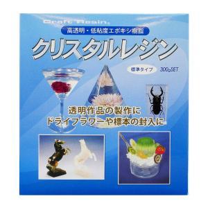 クリスタルレジン 300gセット/日新レジン エポキシ樹脂 透明 エポキシ硬化物 エポキシレジン