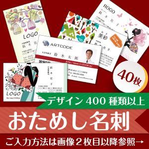 [名刺] お試し名刺 印刷 作成 40枚 全デザインテンプレート約350種類対応