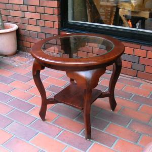 ラウンドテーブル カフェテーブル JAVA GLASS TABLE S・・・オリジナル家具・インドネシア直輸入|artcrew