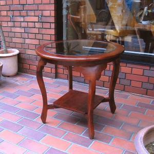 ラウンドテーブル カフェテーブル JAVA GLASS TABLE L・・・オリジナル家具・インドネシア直輸入|artcrew