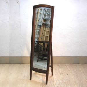 スタンドミラー・Dressing Mirror・姿見・鏡・チーク無垢材・インドネシア直輸入・真鍮金具付|artcrew