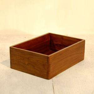 ボックストレーL・引出・整理箱・道具箱・チーク無垢材・インドネシア直輸入|artcrew