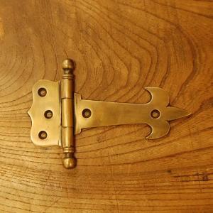 ブラス蝶番107 ヒンジ 真鍮・・・インドネシア直輸入・インテリアパーツ・古色仕上げ|artcrew